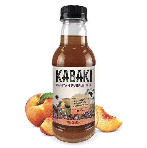 Kabaki Kenyan Purple Tea with Peach 16 fl oz 6-Pack