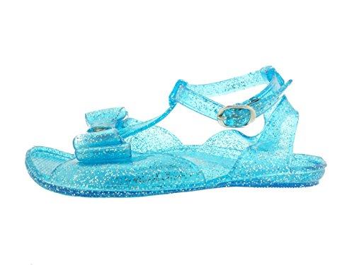 9bc7a16439bb ZTT-6011A-Tod Girls Glitter Jelly Sandals w Bow-TRQ-M - Import It All