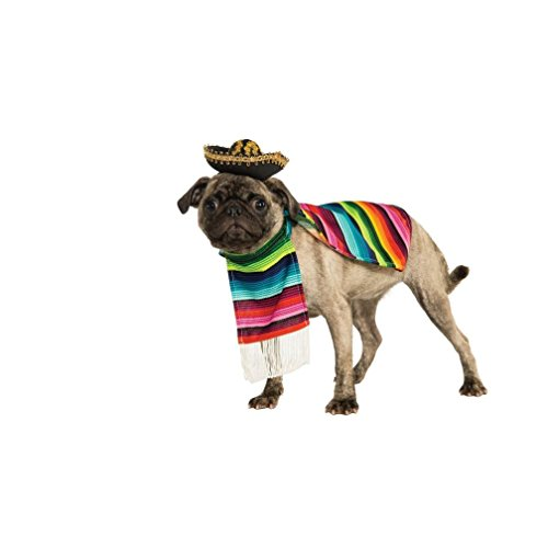 Costume Halloween Classics Collection Pet Costume Small Mexican Serape (Pet Mexican Serape And Sombrero)