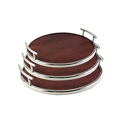 American Atelier Wooden Serving Tray - Large Rustic Decorative Platter w/Carry Handles in Gorgeous Maple Wood for Food, Drinks, Ottoman or Centerpiece - Perfect Gift Idea for Birthday, Holiday & More