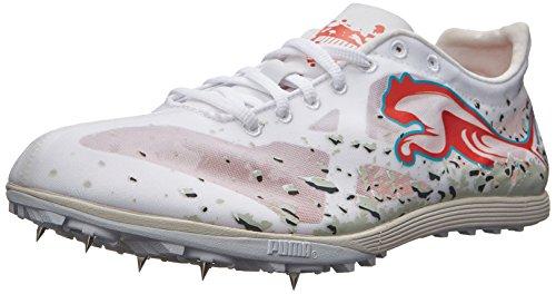 PUMA Men's Crossfox XCS Shoe,White/Grenadine,7 M US