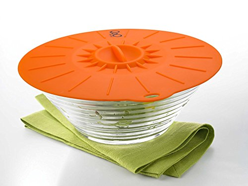 """QooWare Silicone Suction Lids - Set of 5 Colorful Food Covers - Microwave Safe BPA Free Mugs Pots Bowls Lids - Diameter 4"""" 6"""" 8"""" 10"""" 12"""" Fit Cups Dishes Skillets Pans - Keep Kitchen Neat & Food Fresh 3 100% FOOD GRADE SOFT SILICONE - Safe, BPA-free, odorless, and non-toxic. It's heat resistant and can withstand up to 450 degree Fahrenheit. For home and commercial use. SET OF FIVE LID COVERS - Lid sizes fit most food containers such as cups, mugs, plates, pots, bowls (4, 6, 8, 10, and 12-inch lid option). HYGIENIC FOOD COVER - Shields food from dust, insects, and dirt especially when having a picnic or outdoor barbecue. Great for daily use and parties. Retains food freshness and best for storing leftovers and as an oil splatter cover."""