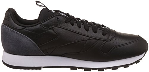 Reebok Men's Classic Leather It Low-Top Sneakers, White Black (Black/Coal/White)