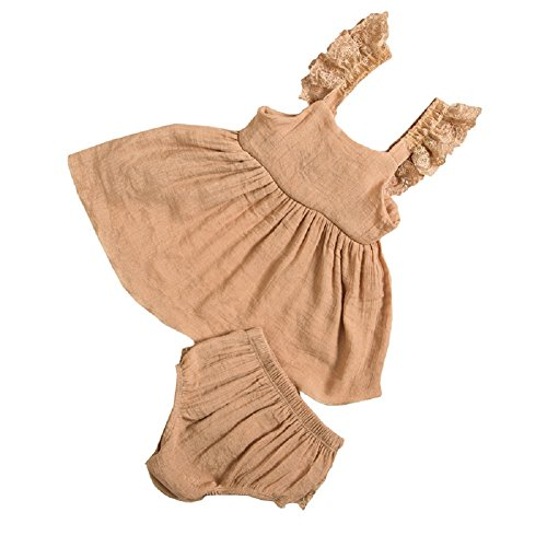 DQdq Baby Girls' 2 Piece of Bloomers Sleeveless Top Sets Cotton (Two Piece Bloomers)
