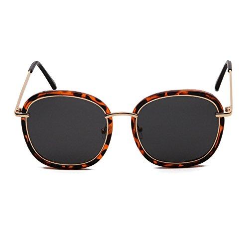 libre Vintage UVA UVB gafas larga Resina Estilo Cara aire Vintage de Harajuku Gafas sol clásicas de sol Visual redonda mujer Gafas Cara Moda Al de de HD Antideslumbrante frame Coreano black Amber Estilo conducción Wayf RxwRqpz