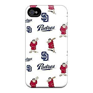Iphone 4/4s LcK13793VxOI Customized High-definition San Diego Padres Pattern Protective Cell-phone Hard Cover -JohnPrimeauMaurice