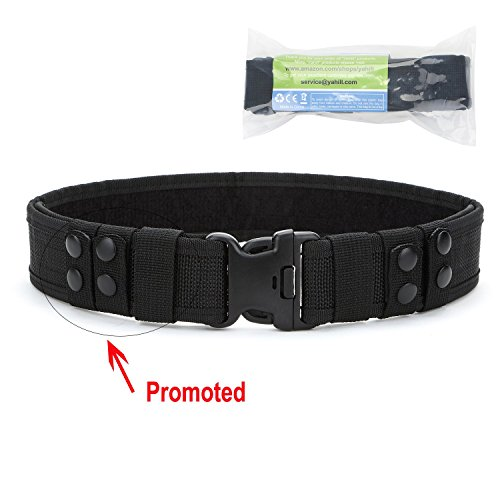 Buy Discount Yahill Safety Security Tactical Belt Combat Gear Adjustable Heavy Duty Police Equipment...