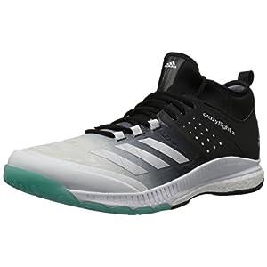 adidas Women's Shoes | Crazyflight X Mid Volleyball Shoe - White/Metallic Silver/Black (5 M US)