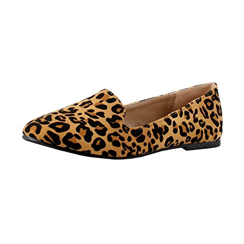 Forever Shoes Zapatos 81 Diana Suede 5 Tan leopardo 5 rtqprx