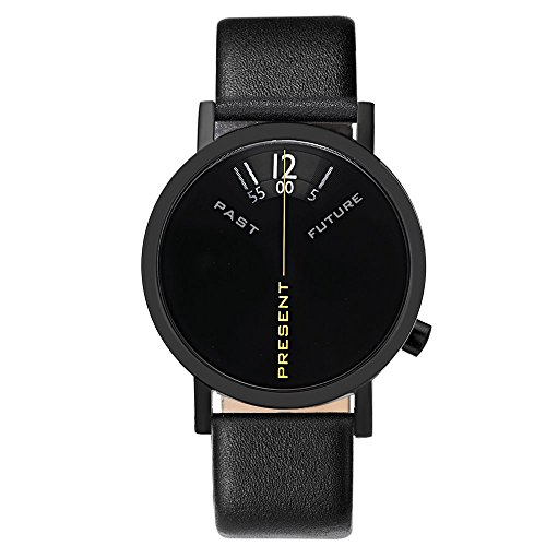 Watch Past, Present, Future 40mm Black Leather Band (Watches Project)