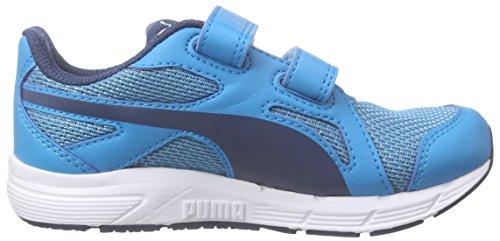 Puma Axis V4 Mesh V Kids - Zapatillas Unisex Niños Azul - Blau (atomic blue-blue wing teal 01)
