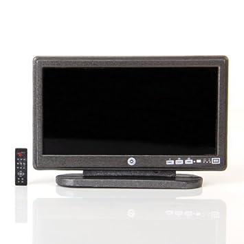 b32afc9eea6d8e Télévision à Grand Ecran Téléviseur à Ecran Plat LCD avec Télécommande  Miniature pour Maison de Poupée