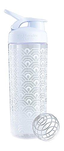 BlenderBottle SportMixer Signature Sleek Shaker Bottle, Clamshell White, 28-Ounce (Blender Bottle Odor Resistant compare prices)