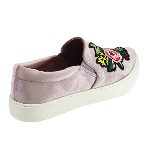 Fashion Padded Flower Elastic IF12 Soda Slip Cuff Pattern Sneaker On Taupe Women's w0nppqHz