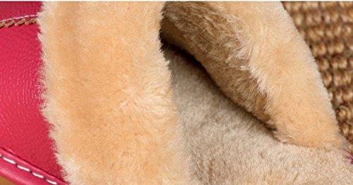 den Kinder M Holzfu b warm Baumwoll nach TELLW und dchen Hause Pantoffeln Home Frauen Winter jungen Leder Pantoffeln Boy und rutschfeste nner Indoor hellbraun Kinder M HxRAY