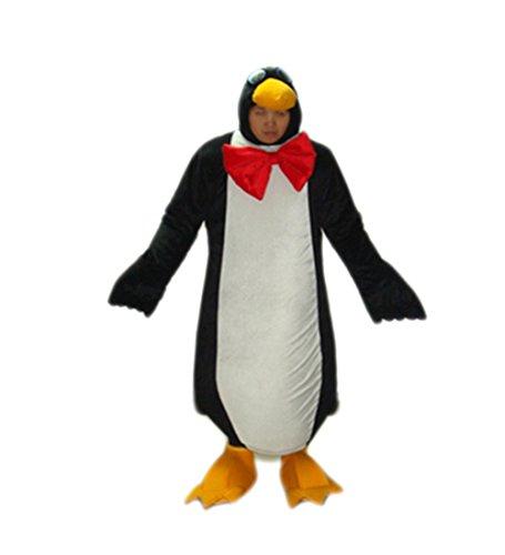 MascotShows Penguin (expose human face) Mascot Costume Adult Size Fancy Dress Suit (Penguin Mascot Costume)