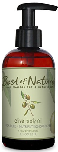 - Olive Body Oil - 8oz -100% Pure & Natural - For Body & Hair!
