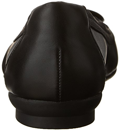 Talla Piel Mujeres Punta Negro Cerrada Blush Cuero Candra Zapato de Clarks Metedera Bajo wqvdXp6xwn