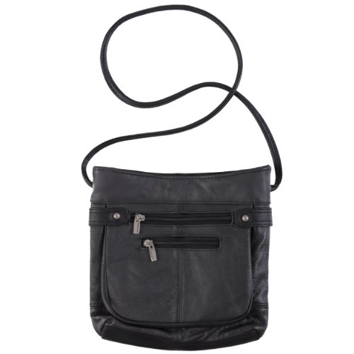 Journee Collection Genuine Leather Cross-body Handbag, Bags Central