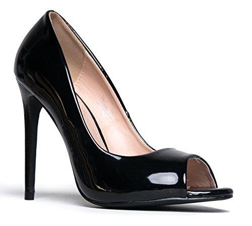 Black Peep Toe Heels (J. Adams Verse Peep Toe Pumps)