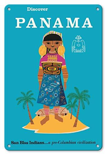 (LHZJ Fashionable Discover Panama - San Blas Indians.a Pre-Columbian CivilizationWall Sign 8X12 inches Metal tin Sign )