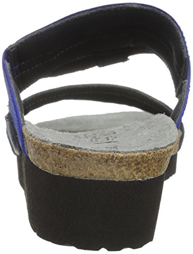 Leather Wedge Naot Sandal Sea Mid Silver Blue Heel Women's Stretch Intrigue Polar Combo 7ZqZf
