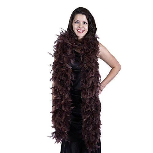 ZUCKER Heavy Weight Chandelle Feather boa Solid Colors - Brown for $<!--$10.24-->