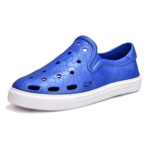Sandals MAZHONG Couple Comfort Beach Bathroom Garden (Color : Khaki, Size : EU43/UK9/CN44) Blue