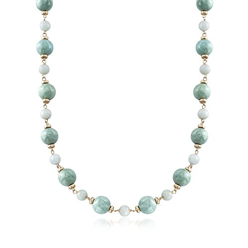 Ross-Simons Green Jade Bead Ne