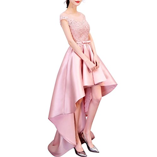 for Dresses Homecoming Prom Sleeveless Bridesmaid Appliques High Champagne Party Low Dresses WC0g6q0w