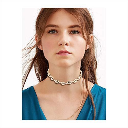 (MOLOCH Shell Choker Necklace (Gold)