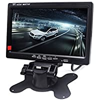Padarsey 7 LED Backlight TFT LCD Monitor for Car Rearview Cameras, Car DVD, Serveillance Camera, STB, Satellite Receiver and other Video Equipment
