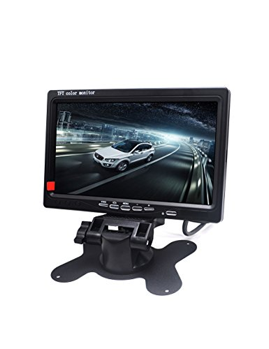 Padarsey 7 Inch LED Backlight TFT LCD Monitor for Car Rearview Cameras, Car DVD, Serveillance Camera, STB, Satellite Receiver and other Video Equipment (Tft Led)