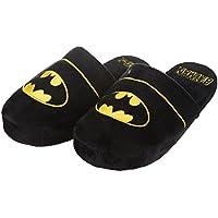Image of Black Batman Logo Slippers for Men