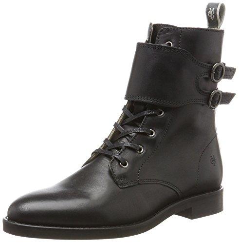 Flatheel Schwarz Militares 70814226301124 Botas O'polo Lace black Mujer Para Marc Bootie 6wEqzc