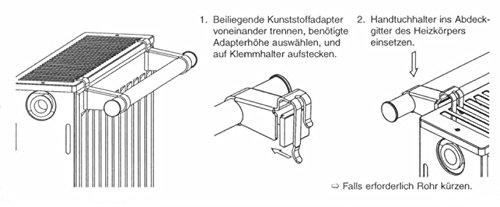 Buderus Universal Handtuchhalter für alle Plattenheizkörper Flachheizkörper