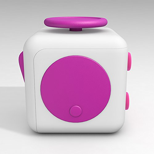 D-JOY Cube Fidget Toy Cube Relieves Stress and Anxiety Attention Toy for Work, Class, Home (White Rose) Photo #4
