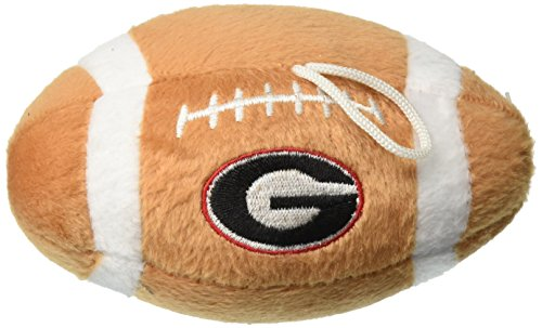 Sporty K9 NCAA Georgia Bulldogs Plush Football Pet Toy, 5-inch Long with Inner ()