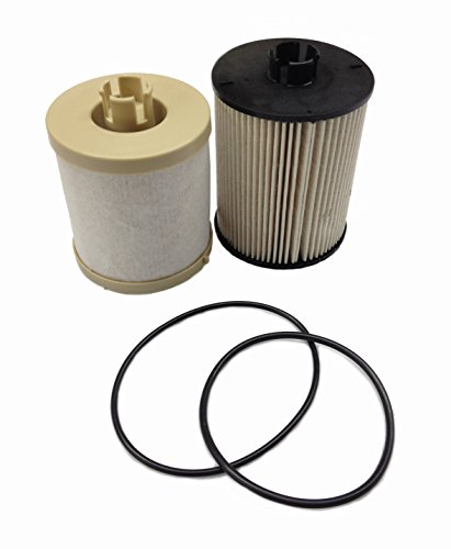 Ford 6.4L 2008-2010 FD4617 Diesel Fuel Filter Pack includes lower lifter pump filter and upper fuel bowl filter ADT-64-FD4617 Ford F250 F350 F450 F550 F650 FD-4609 Replacements