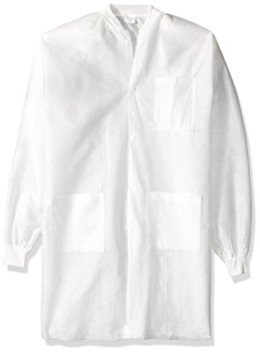 - High Five Products AL351 Series AL35 SMS Lab Coat, 3 Pockets, Small, White (Case of 30)
