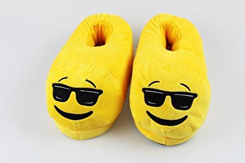 Ein Paar Hausschuhe  EMOTION  kuschelig weich, rutschhemmende Sohle, für Jungen und Mädchen und Kinder, verschiedene Größen zur Auswahl (33 / 34, C : Cool) C : Cool