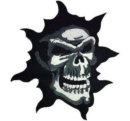 Skull Head Caveman Reaper Tattoo Evil Biker Death Metal Back Iron on Patch Badge
