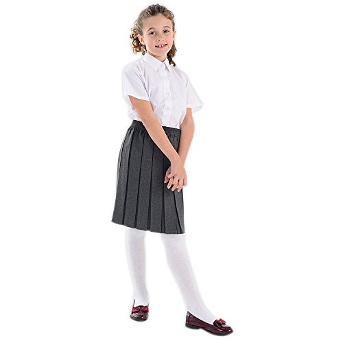 Adams Skirt (adam & eesa Girls Box Pleated Skirt - School Uniform Girls (Pack of Grey Navy Black Skirt) UK Sizes - Ages 2-16)