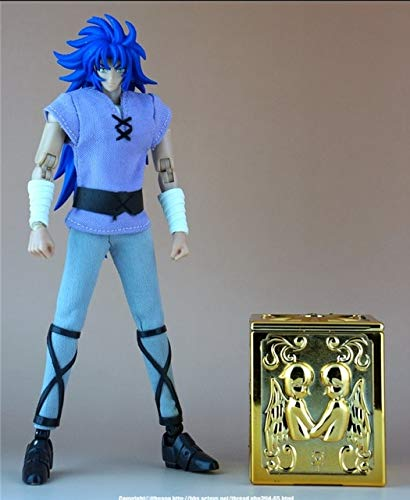 (WEKIPP Comic Club Soul of Gold Saga Camus Mu Aiolia Death Mask Cloth Myth Mufti Contain Cloth Box Action Figure Toy -Multicolor Complete Series Merchandise)