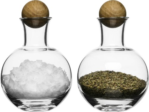 (Sagaform 5016554 Spice/Herb Storage Bottles with Oak Stoppers)