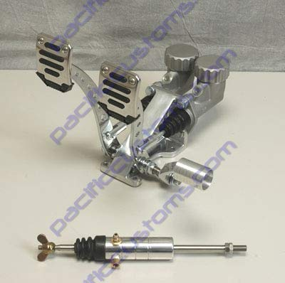 Pedal Assembly With Roller Throttle Round Reservoirs 3//4 Brake 5//8 Clutch And Slave Dune Bug Buggy Sandrail Atv Baja Bug Trike
