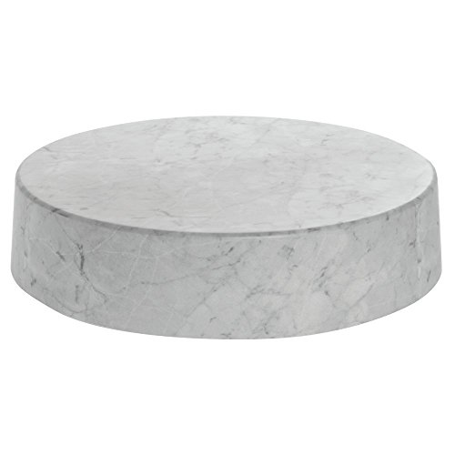 Round White Faux Marble Riser -18inch Dia x 4inch H by Expressly Hubert