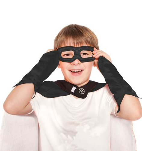 Black Superhero Eye Mask and Powerbands