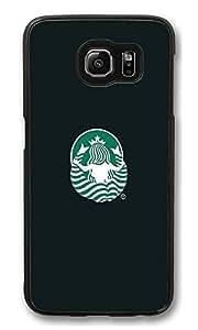 S6 Case, Back Of Starbucks Logo Spread Legs Creativity Ultra Fit Black Bumper Shockproof Case For Galaxy S6 Customizable Hard PC Samsung Galaxy S6