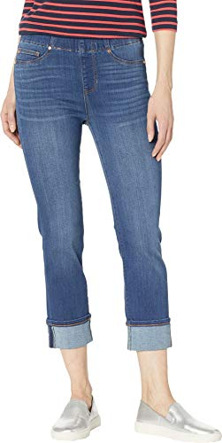Liverpool Women's Chloe Pull-On Crop Wide Cuff in Cantrell Cantrell 8 24